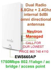 EWS660AP 1750Mbps 800mW 11ac / abgn Neutron Managed Outdoor AP