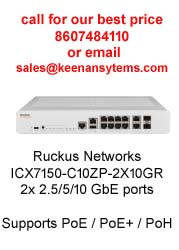 Ruckus ICX7150-C10ZP-2X10GR Compact Switch 8× 2 5 GbE ports and