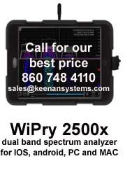 Oscium WiPry 2500x, Wi-Fi Spectrum Analyzer (iOS, Android