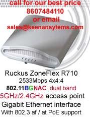 Ruckus R710 2533Mbps dual band wave 2 802 11abgnac AP