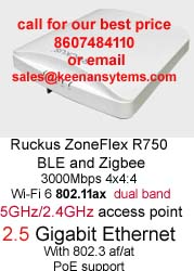 R750 Indoor Wi-Fi 6 802 11ax Wi-Fi AP for Ultra High Density